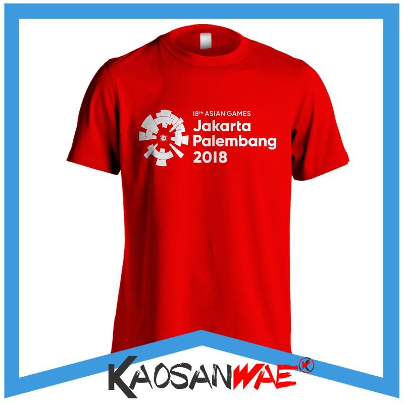Kaos Asian Games 2018 Jakarta Palembang DTG Tshirt KaosanWae | Shopee Indonesia