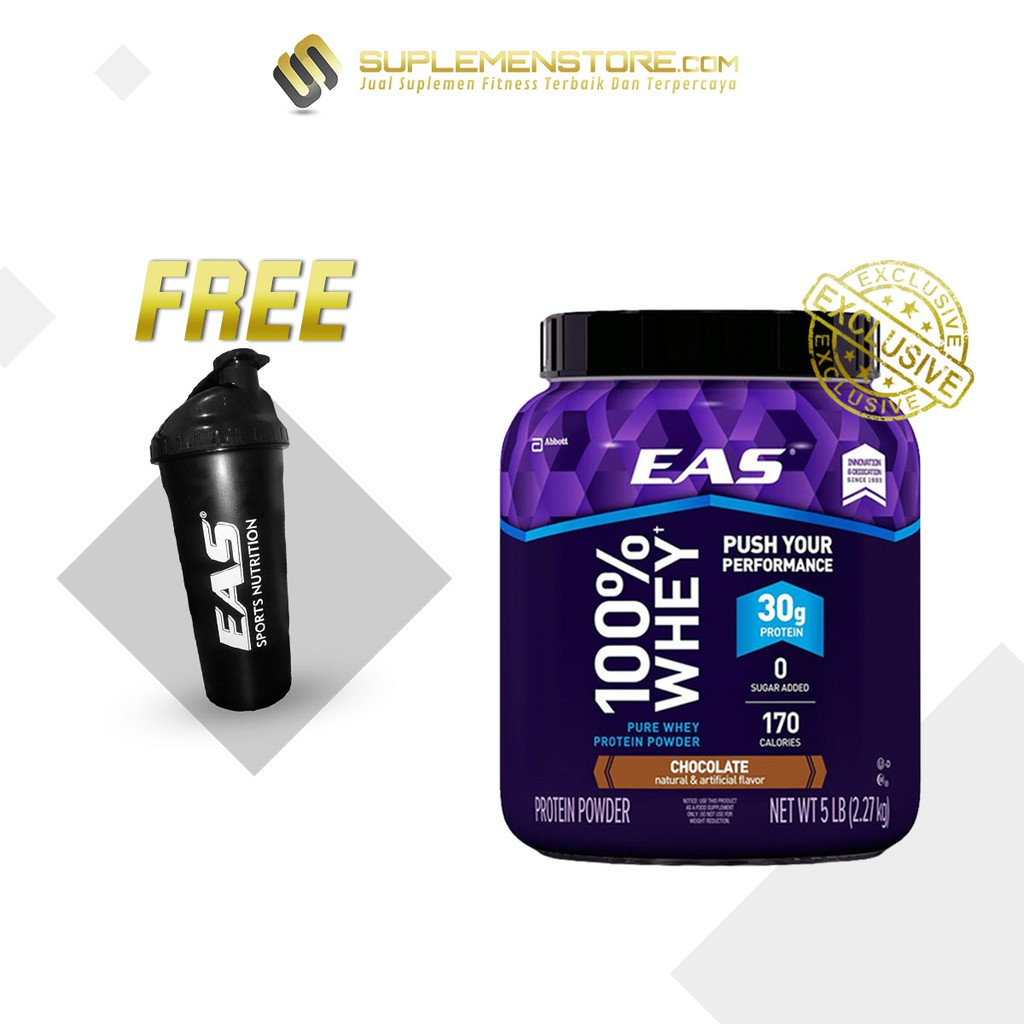 PROMO Abbott EAS Myoplex Whey Protein 5 lbs FREE Shaker EAS Sports Black   Shopee Indonesia