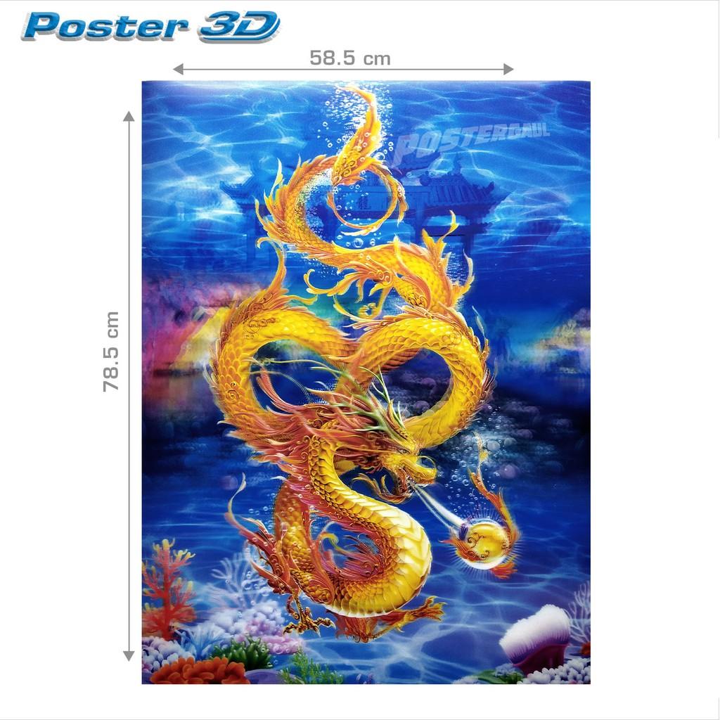 [COD] Poster 3D Jumbo NAGA TIONGKOK 3DJ50 Ukuran 58 5 X 78 5 Cm