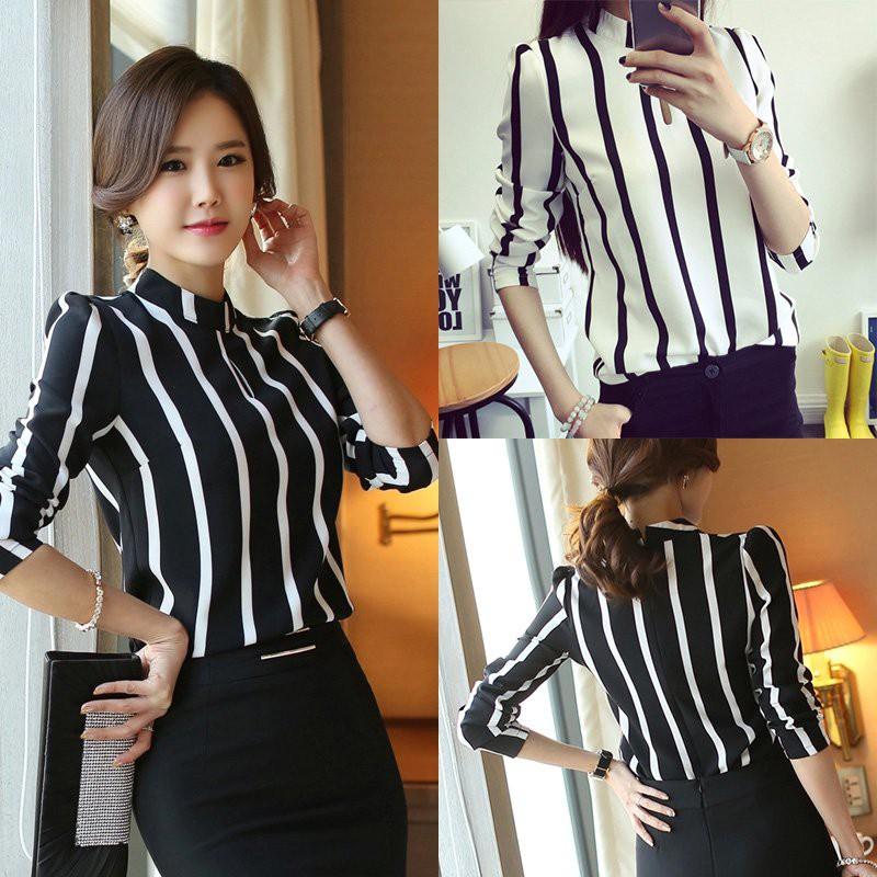 TF32452 Slim Style Work Formal Blouse Atasan Kemeja Wanita Import Korea  Baju Kerja Kantor Kuliah  f878200942