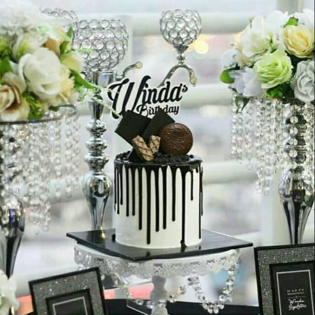 Cake Ulang Tahun Cake Monochrome Cake Medan Shopee Indonesia