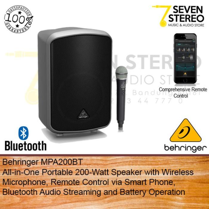 PERALATAN MUSIK Behringer MPA200BT Portable 200 Watt Speaker With Wireless  Mic