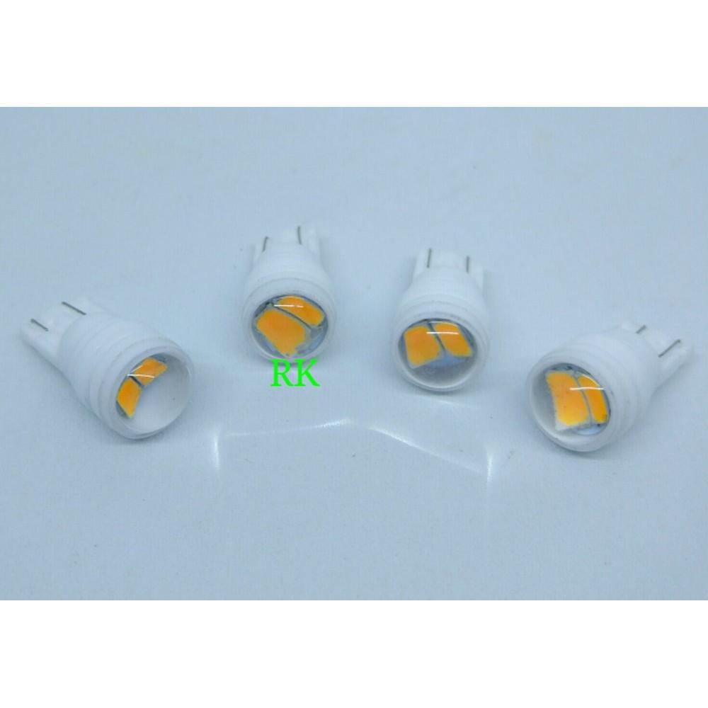 JUAL MURAH LAMPU LED MOTOR SEIN T10 KUNING KEDIP PNP - LED T10 YELLOW SIGN MOTOR