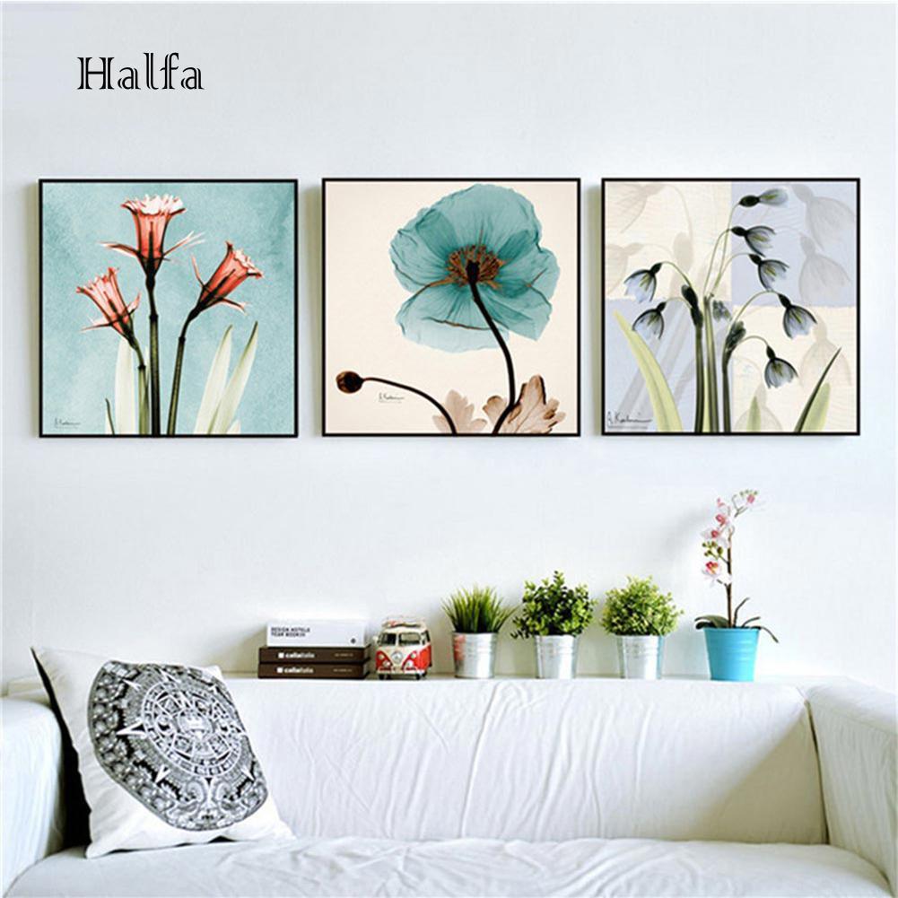 HL Lukisan Kanvas Print Bunga untuk Dekorasi Dinding Kamar Tidur