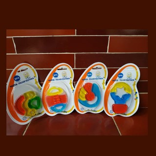 Teether IQ baby 3 warna| Baby Water Filled Teether Three Colours
