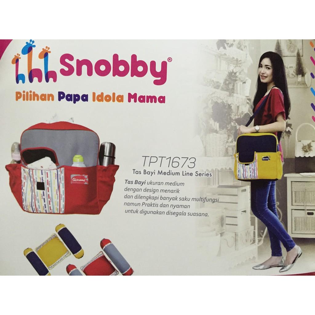 Tas Bayi Besar Snobby Saku Print Marvel Tpt 1371 Shopee Indonesia Medium Merk Snooby Tpt1572