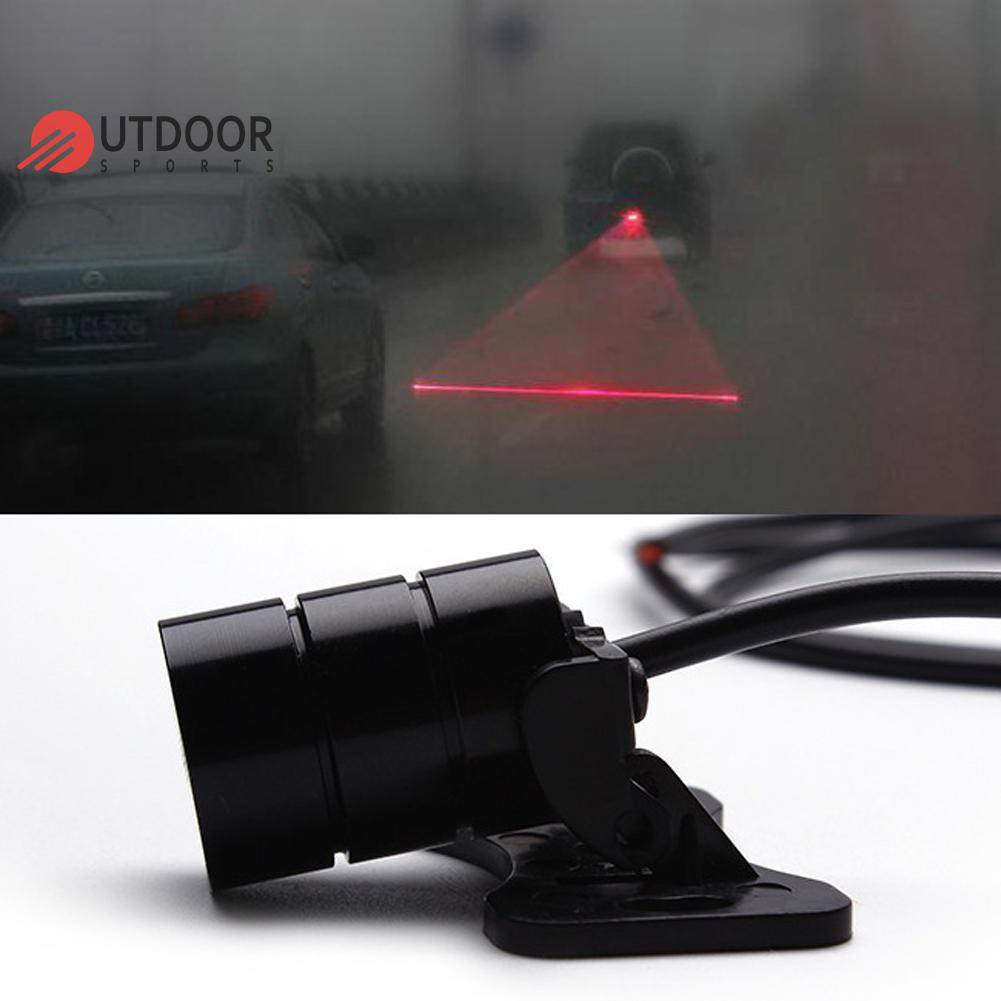 [ready stock] Anti Collision Car Laser Taillight Fog Lights Parking Lamp  Warning Light