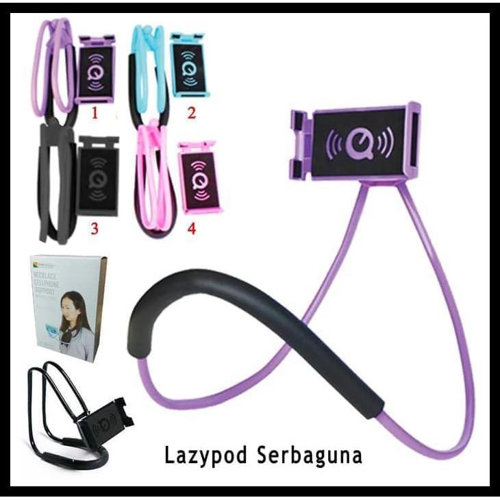 PROMO SPECIAL Lazy neck cell phone stan mount necklace / holder HP leher
