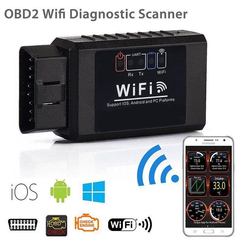 ELM327 WiFi OBD2 OBDII Car Code Reader Diagnostic Scanner For iPhone Samsung PC