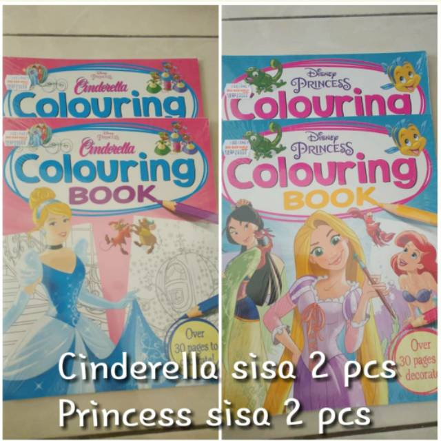 New Coloring Books Disney Princess Cinderella Shopee Indonesia