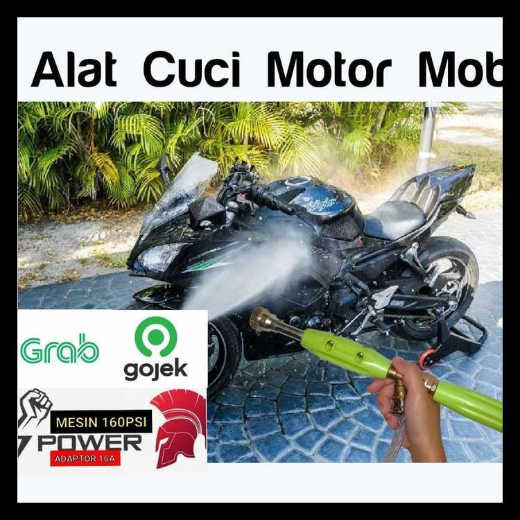 Mesin Power Sprayer Portable Alat Cuci Motor Mobil Steam Kode 1450