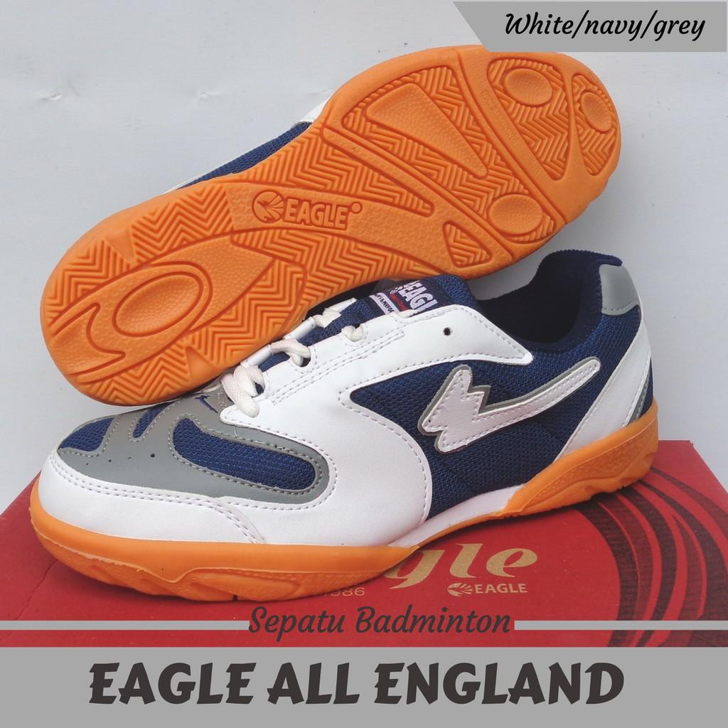 Sepatu Badminton-Bulutangkis Original EAGLE ALL ENGLAND Murah (White) | Shopee Indonesia