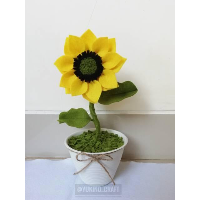 Bunga Matahari Pot Dari Flanel Shopee Indonesia