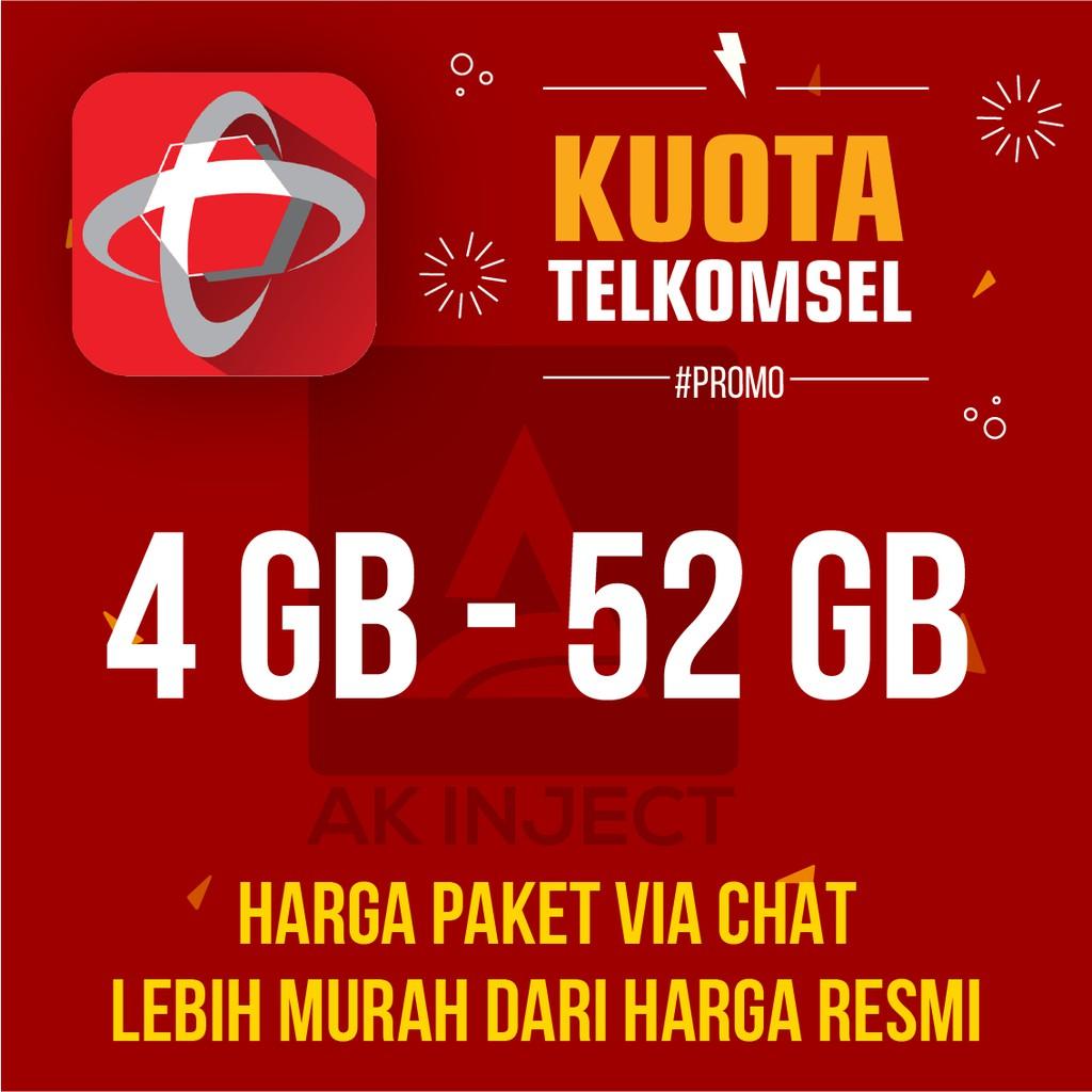 Promo Kuota Telkomsel Isi Ulang Inject Paket Data Internet Murah Simpati Loop As 14gb 52gb 32gb Shopee Indonesia