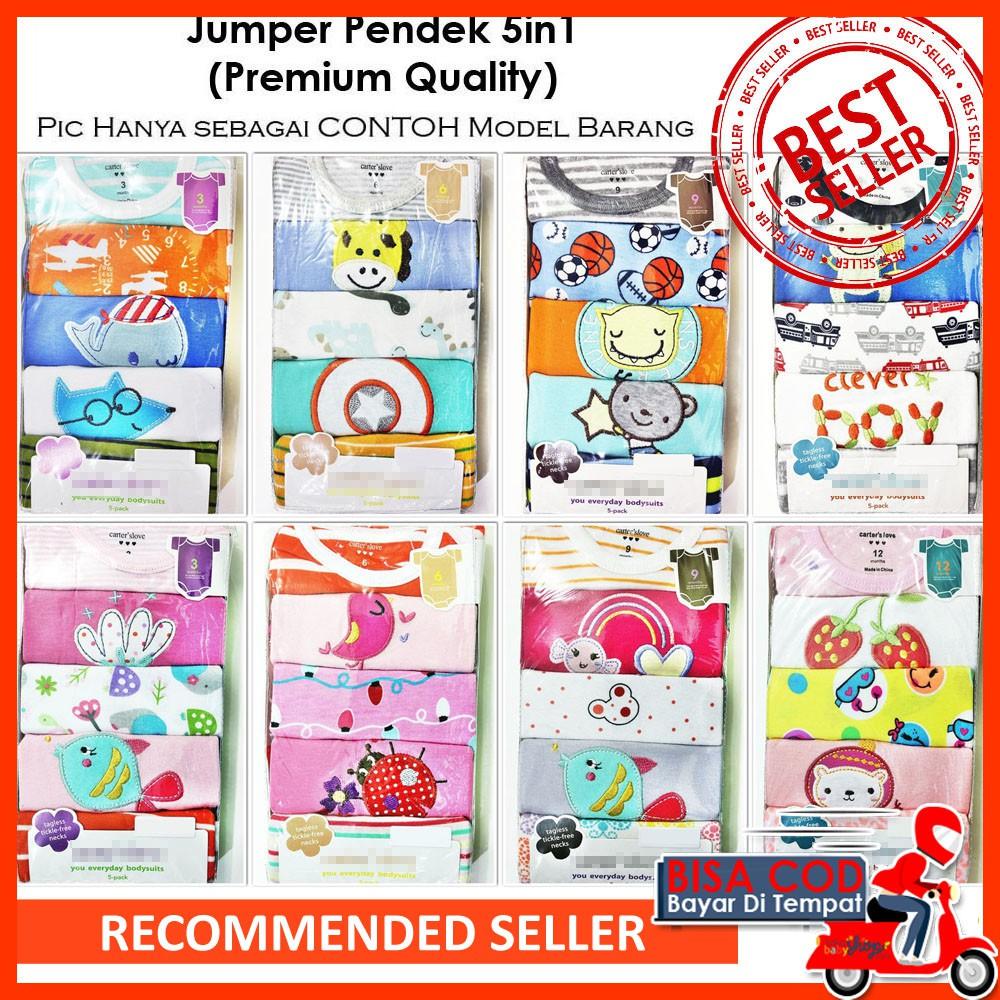 [ BISA COD ] Jumper Pendek Bayi Carter 5in1 Bodysuit Katun (Premium  Quality) JCS