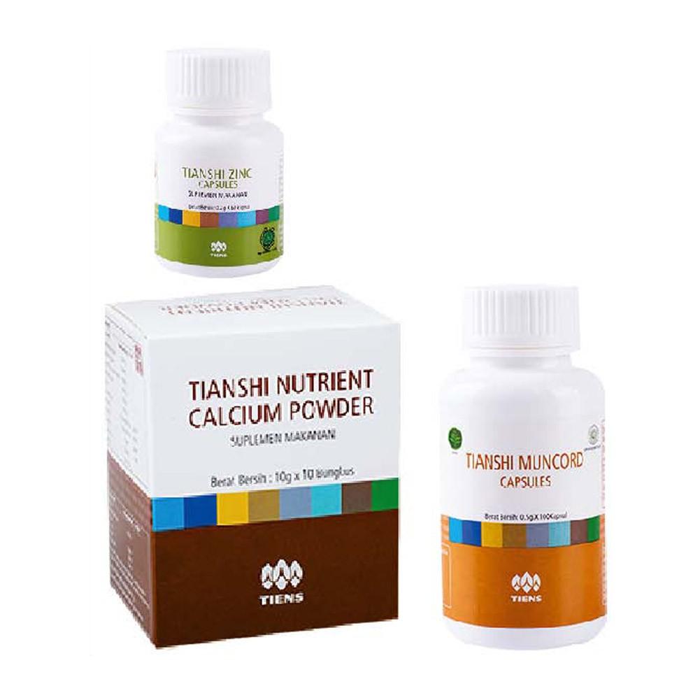 Tiens Tianshi Paket Penggemuk Badan Basic Zinc Spirulina Penambah Berat Tubuh Herbal Shopee Indonesia