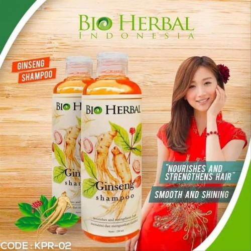 Shampo Sampo Penumbuh Perawatan Rambut Rontok Botak Herbal Ekstrak Ginseng BPOM