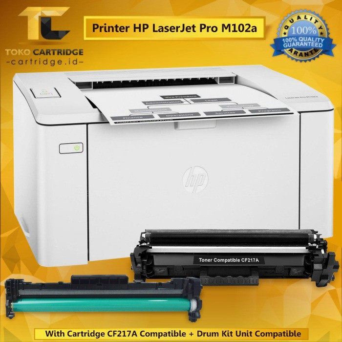 Printer Hp Laserjet Pro M102a New With Drum Kit Cartridge Compatible Laser Jet Hp M102a Monochrome Shopee Indonesia