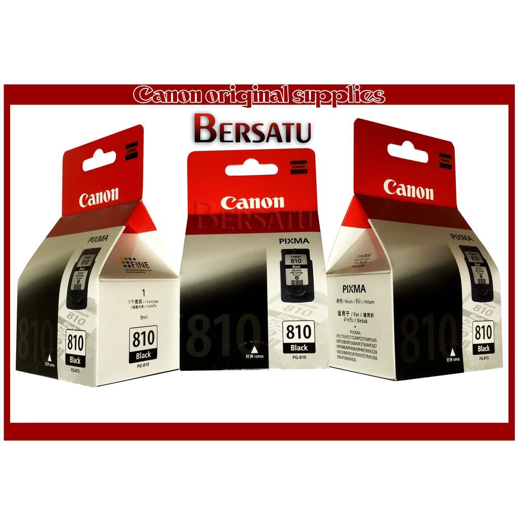 Cartridge Canon Pg 810 Black Printer Ip2770 Mp258 Mp276 Mp296 Mp496 Ready Ori Shopee Indonesia