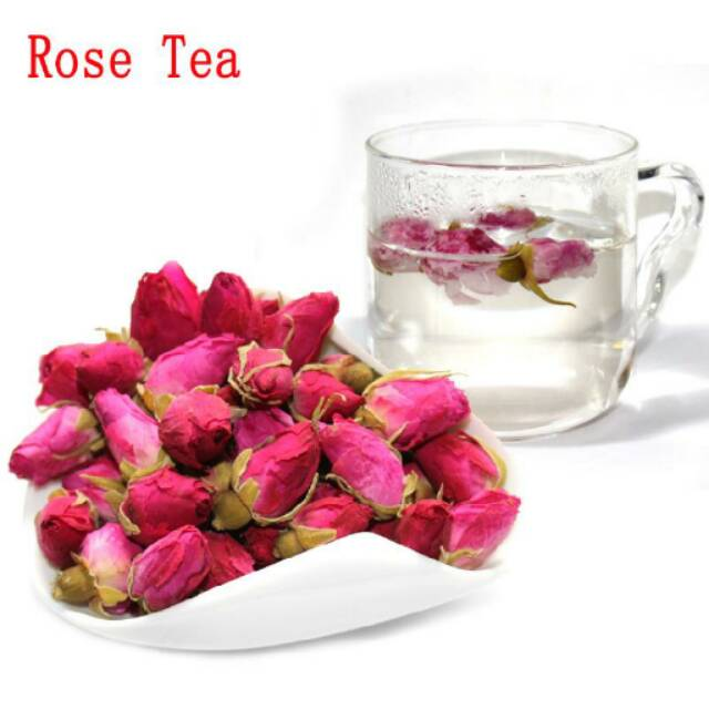 50gr Rose Tea Teh Bunga Mawar Loose Tea Scented Tea Rose Bud Petal Tea Shopee Indonesia