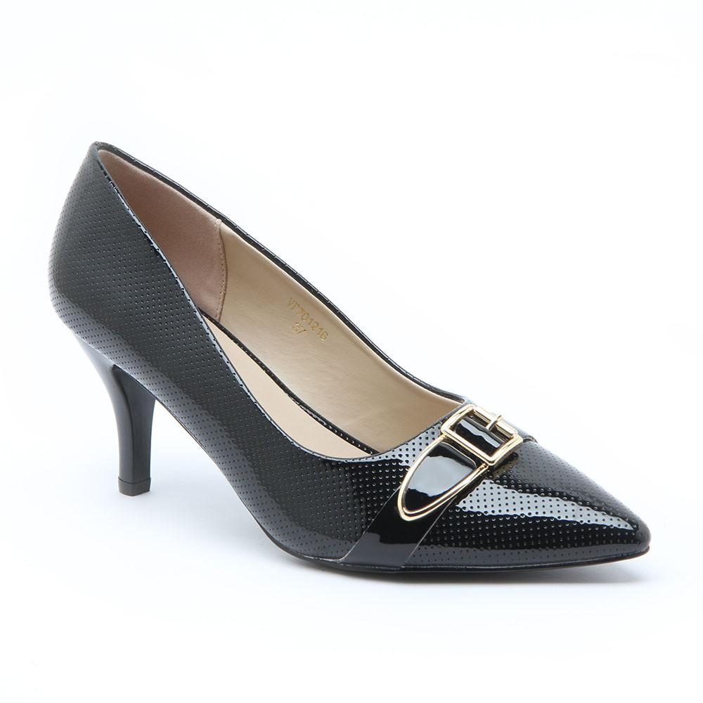 Amazara Jeanette Black Heels Shopee Indonesia Joanna Maroon Glossy 41