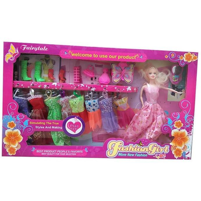 Bhgvfcdx Boneka Barbie New Fashion Girl Just For Girl Shopee Indonesia