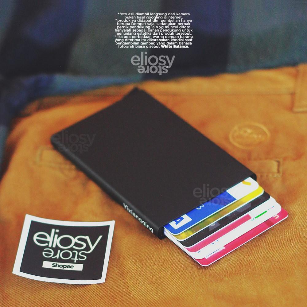 Dompet Smart Wallet Kartu Metal Braun Buffel Kulit Asli Tipis Slim Card Holder Import Branded Shopee Indonesia