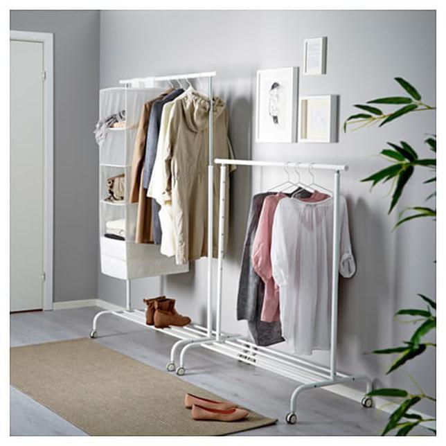 New Rak Gantungan Baju Ikea Rigga Tempat Pakaian Gantung Celana Clothes Free Ongkir Shopee Indonesia