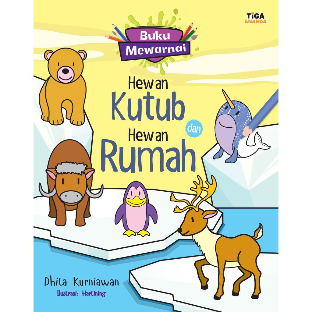 Buku Mewarnai Hewan Kutub Dan Hewan Rumah