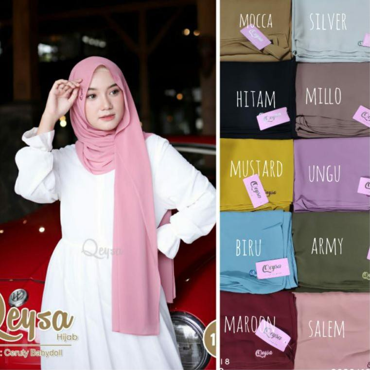 Qeysa hijab Original / Qeysa hijab pashmina / Jilbab pashmina qeysa (KODE 2580)