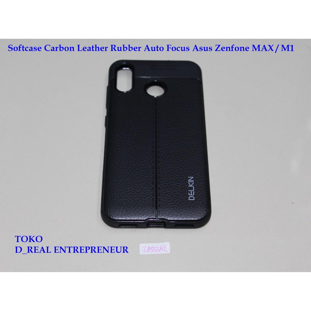 Softcase Carbon Leather Rubber Auto Focus Asus Zenfone Max / M1 ZB555KL