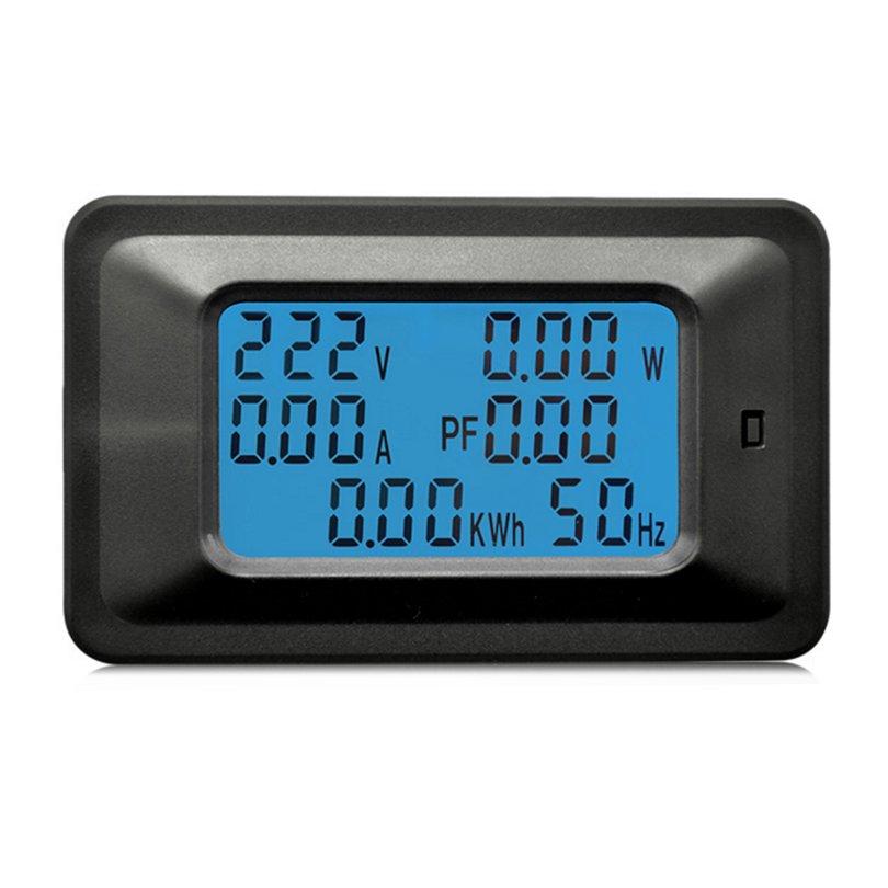 100A DC Digital Watt KWH Current Power Energy Meter Ammeter Voltmeter 110-250V