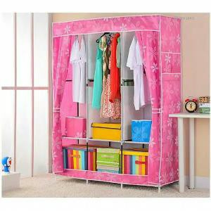 Lemari Pakaian Rak Baju Lemari Baju Multifunction Wardrobe Cloth Rack with Cover | Shopee Indonesia