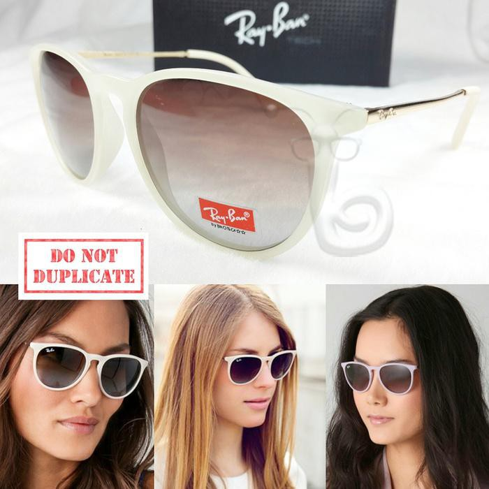 harga FASHION WANITA TERLARIS / KACAMATA SUNGLASS RAYBAN ERIKA POLARIZED CREAM Shopee.co.id