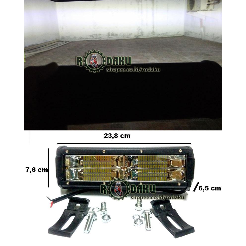 Lampu Tembak Sorot Led Cree 12v 24v 72w 48 Mata 2 Susun Epistar Spion Motor Lemari Etalase 4 2w Shopee Indonesia