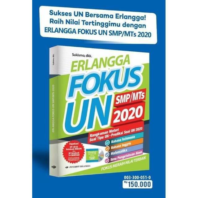 Buku Fokus Un Smp 2020 Erlangga Dilengkapi Kunci Jawaban Shopee Indonesia