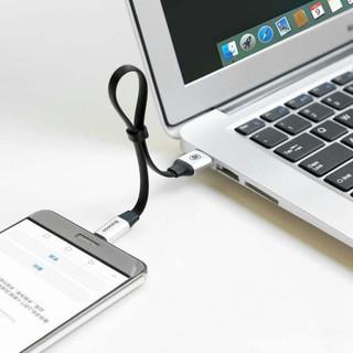 BASEUS 23cm 3 Portable tipe - C kabel sinkronisasi data charger - Perak