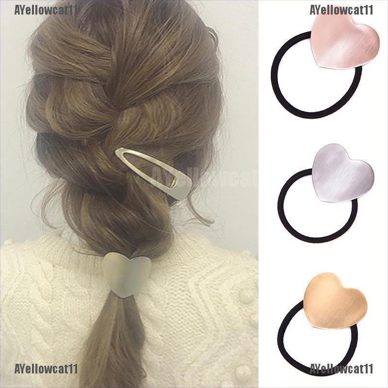 Fashion Punk Gold Silver Alloy Hair Band Rope Simple Headdress hair circle
