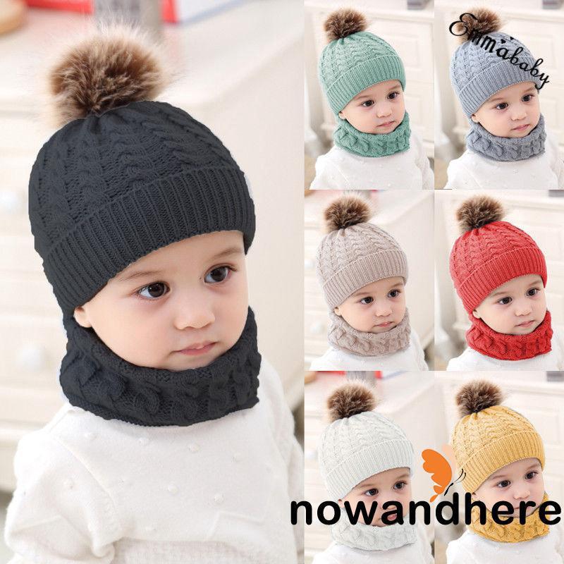 3d3d65b61 ✽UP✽Cute Toddler Kids Girl&Boy Baby Infant Winter Warm Crochet ...