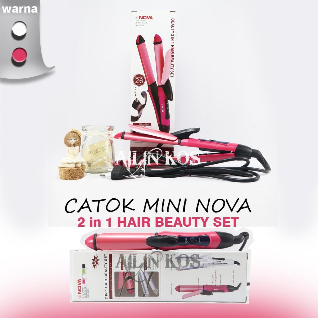 8890 Catokan Nova 3in1 Pengeriting Dan Pelurus Rambut Shopee Hair Beauty Catok 2 In 1 Indonesia