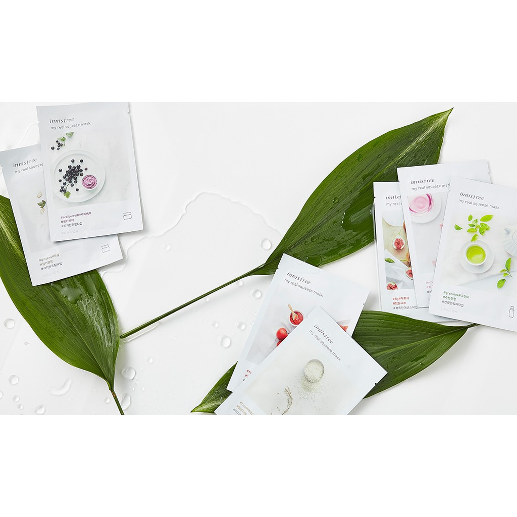 Innisfree Its Real Squeeze Mask Sheet Shopee Indonesia Masker Wajah