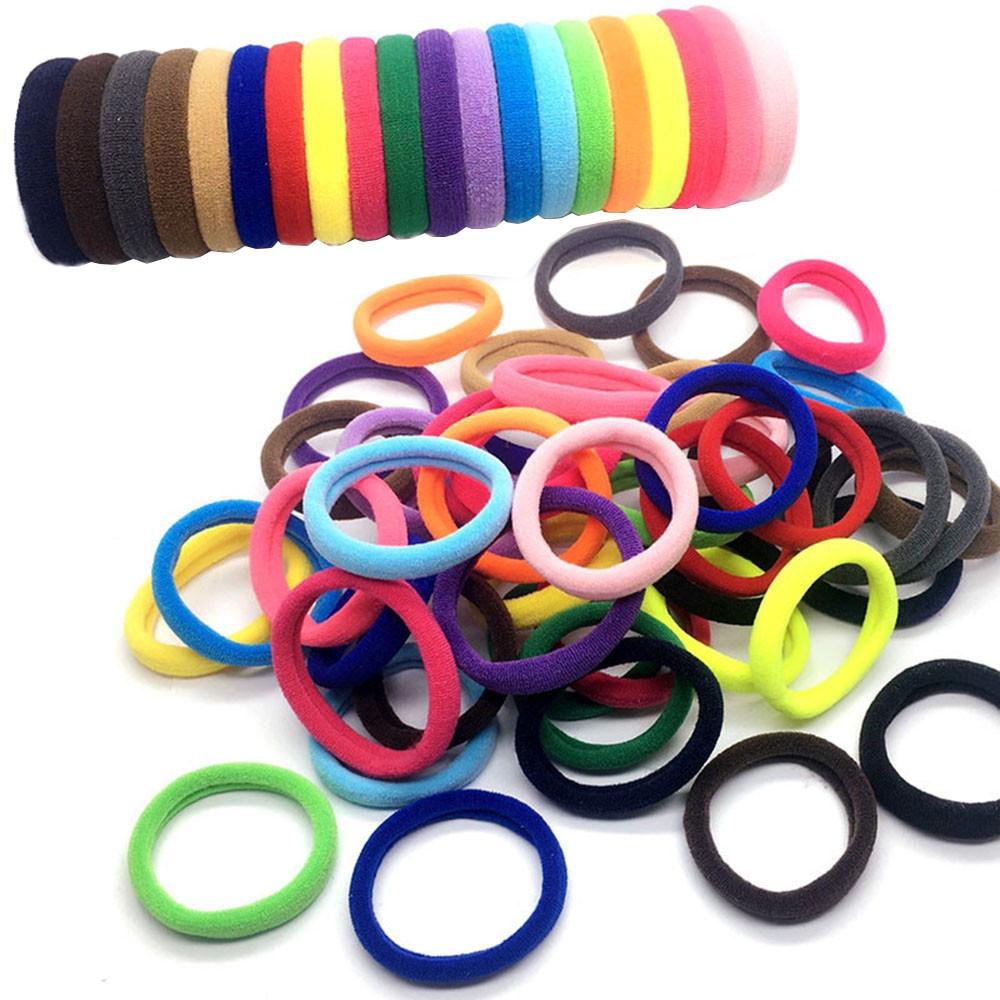 10 PCS Elastic Hair Ties Rubber Band Ropes Ring Scrunchie Women Girl Sweet OF