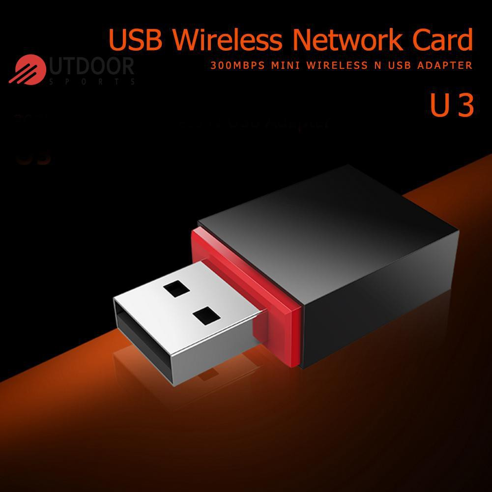 Tenda U3 300Mbps Mini WiFi USB 2.0 Adapter 2.4G Wireless Network Card