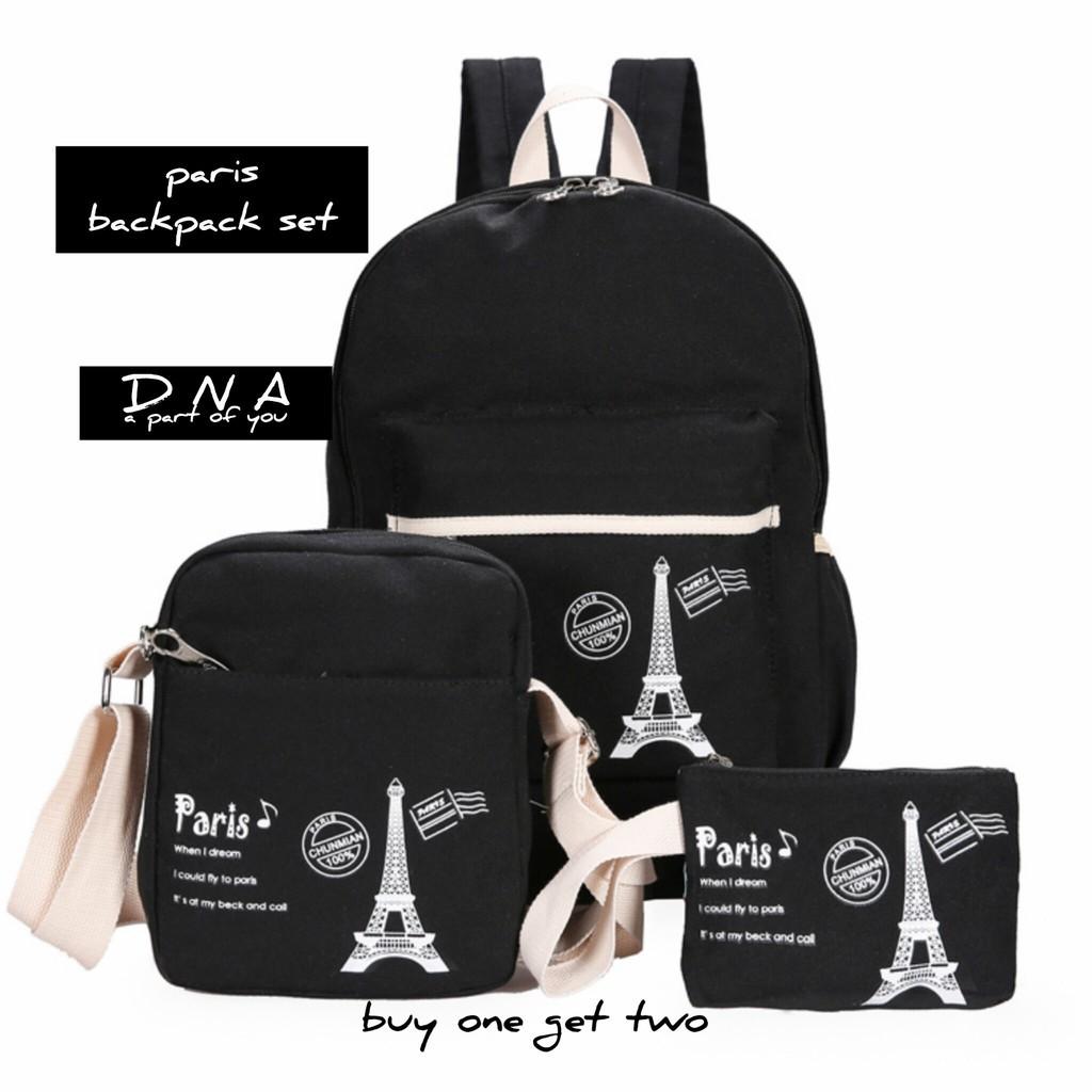 Tas Ransel Backpack Wanita 3in1 Kait Rr Shopee Indonesia Nylon Micro Set