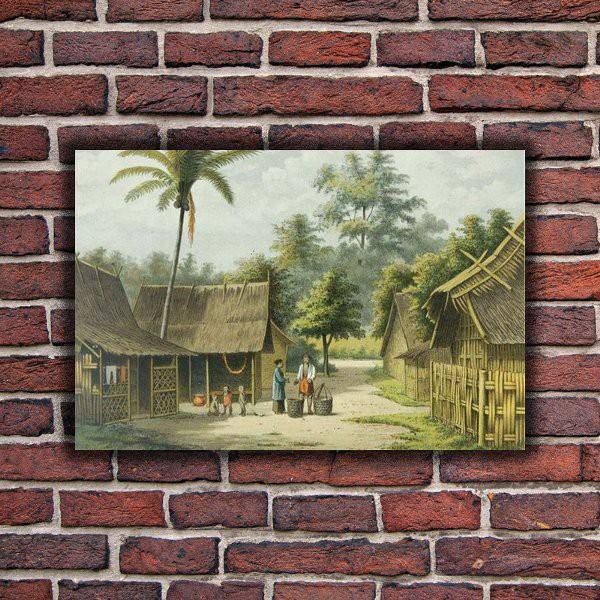 Hiasan Dinding Pemandangan Alam Poster Kayu Cafe Vintage Wall Decor Ruangan Dekorasi Rumah AL13