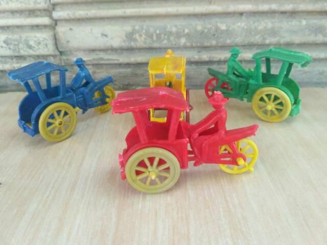 Mainan Anak Becak mini Jadul / Mainan Jadul Becak