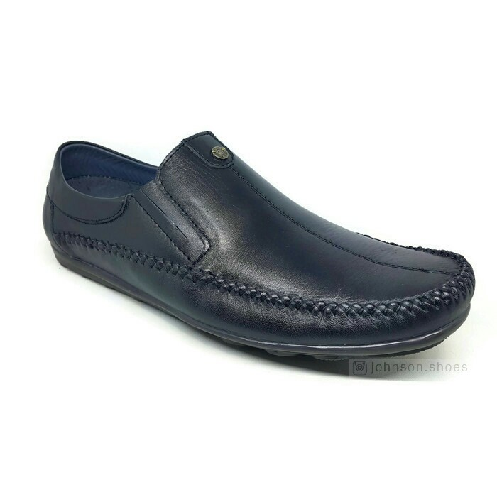 [ Johnson Shoes ] Sepatu Pantofel Kulit Asli Wanita Polwan PIPPEROO - 7765 Hitam 100% ORIGINAL | Shopee Indonesia