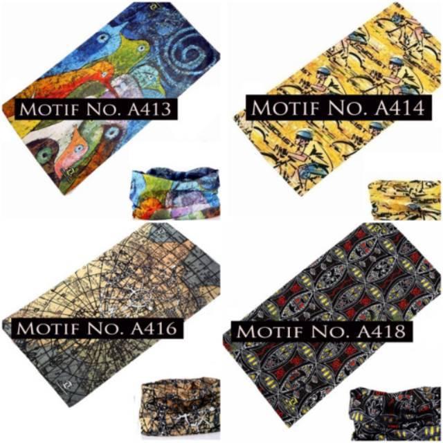 Jual CK Bandana 1607005 Buff Masker Multifungsi Motif Stitch | Shopee Indonesia