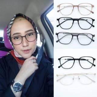 Frame kacamata iris + lensa minus plus silinder anti radiasi sinar uv aksesoris  wanita bcc6905b9b