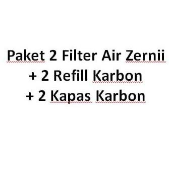 PROMO 1 paket Filter Air Zernii, plus 1 refill karbon dan 1 refill kapas   Shopee Indonesia